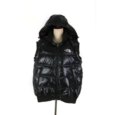 Sleeveless black down jacket